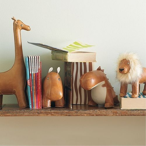 Leather Animal Bookends | Soft toys | Kids room, Kids decor