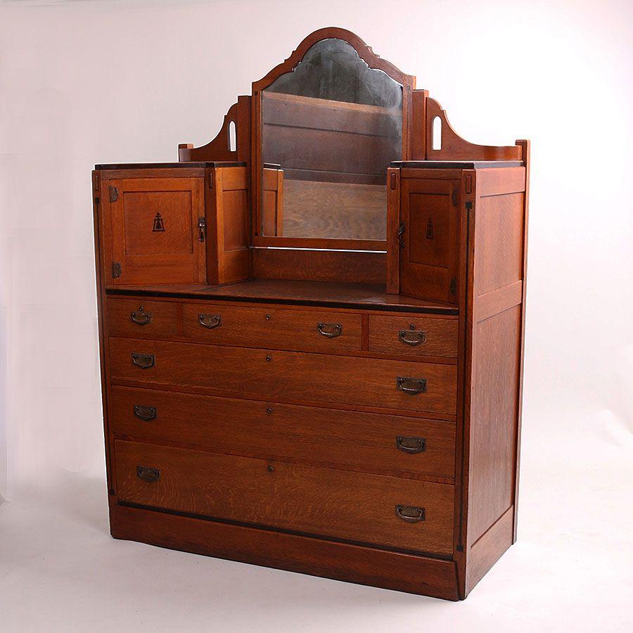 Limbert Ebon Oak Dresser Oak Dresser Oak Arts Crafts Style