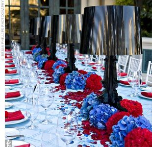 Red White Blue Red White Blue Tablescape Weddings