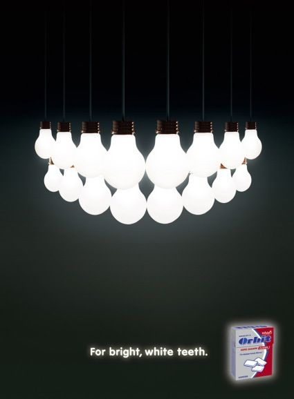 Check out this innovative dental ad from Orbit. Love the Bright light-bulb : ad lighting - azcodes.com