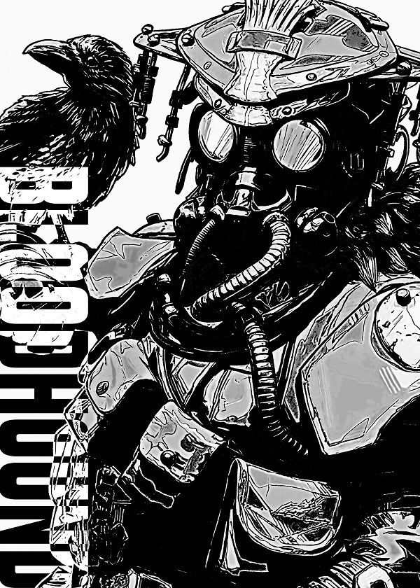 "Apex Legends B&W Sketch Characters Bloodhound #Displate explore Pinterest""> #Displate artwork by artist ""Zakaria… 