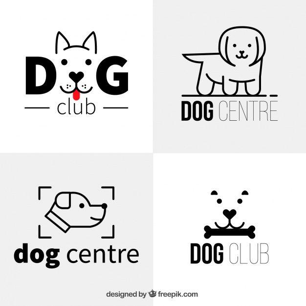 Download Several Flat Dog Logos In Minimalist Style For Free Dog Logo Design Dog Logo Pet Branding