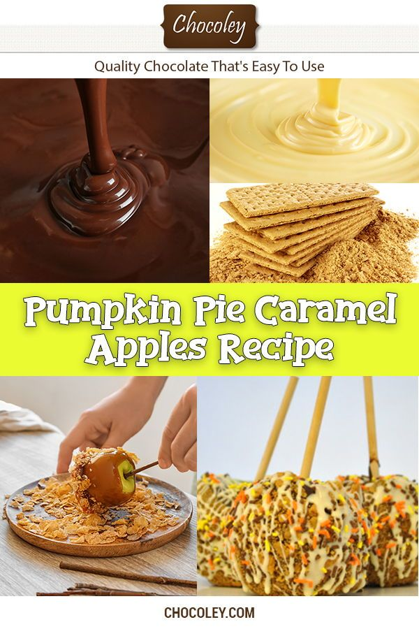 Pumpkin Pie Caramel Apples Recipe Homemade Pumpkin Pie Caramel Apples Recipe for DIY chocolate dipped caramel apples. One of the best Thanksgiving, Fall, and Winter Season caramel apple ideas that combines all of the best flavors of fall into one delicious caramel pumpkin treat.