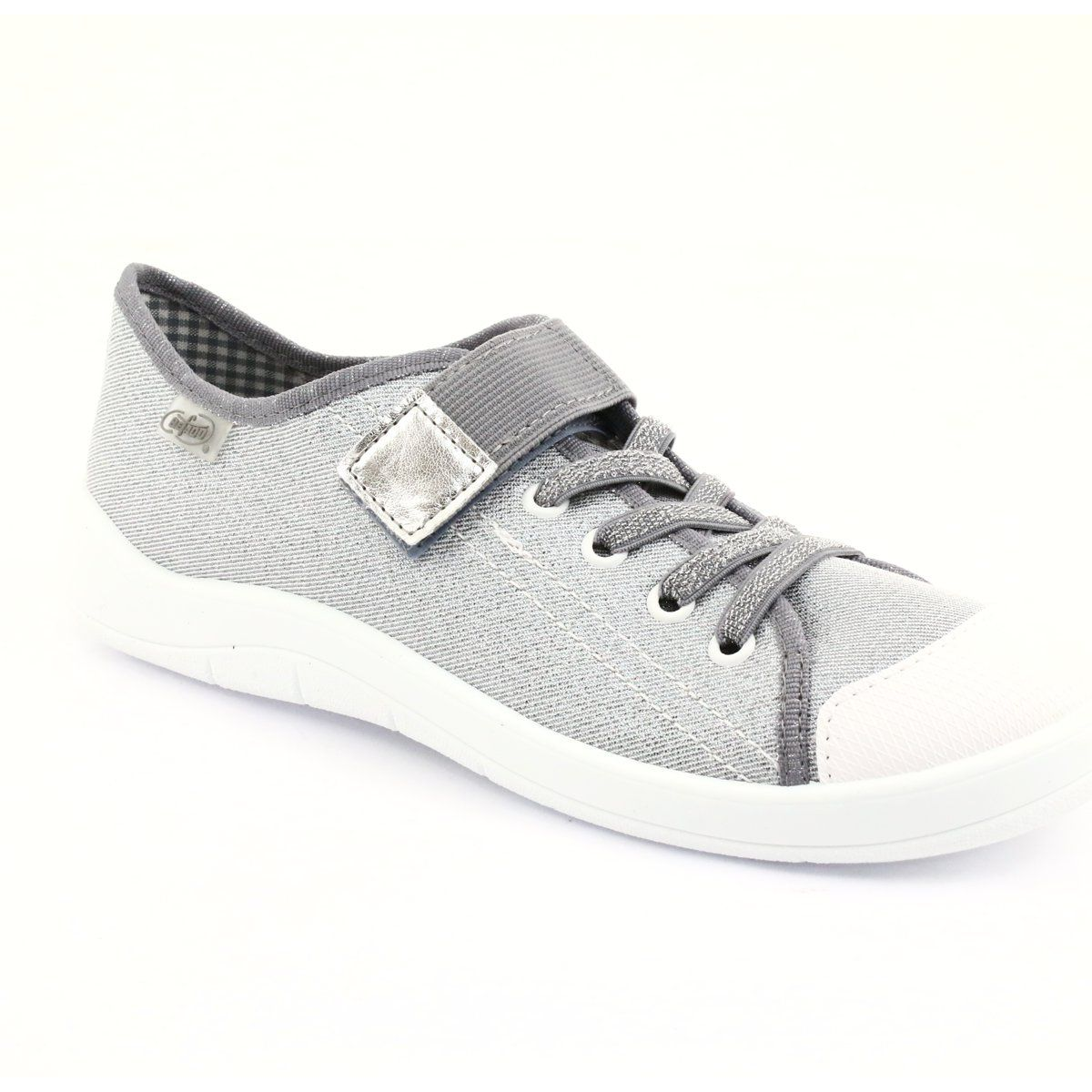 Kapcie Dzieciece Dla Dzieci Befado Befado Obuwie Dzieciece 251q075 Szare White Sneaker Adidas Sneakers Sneakers