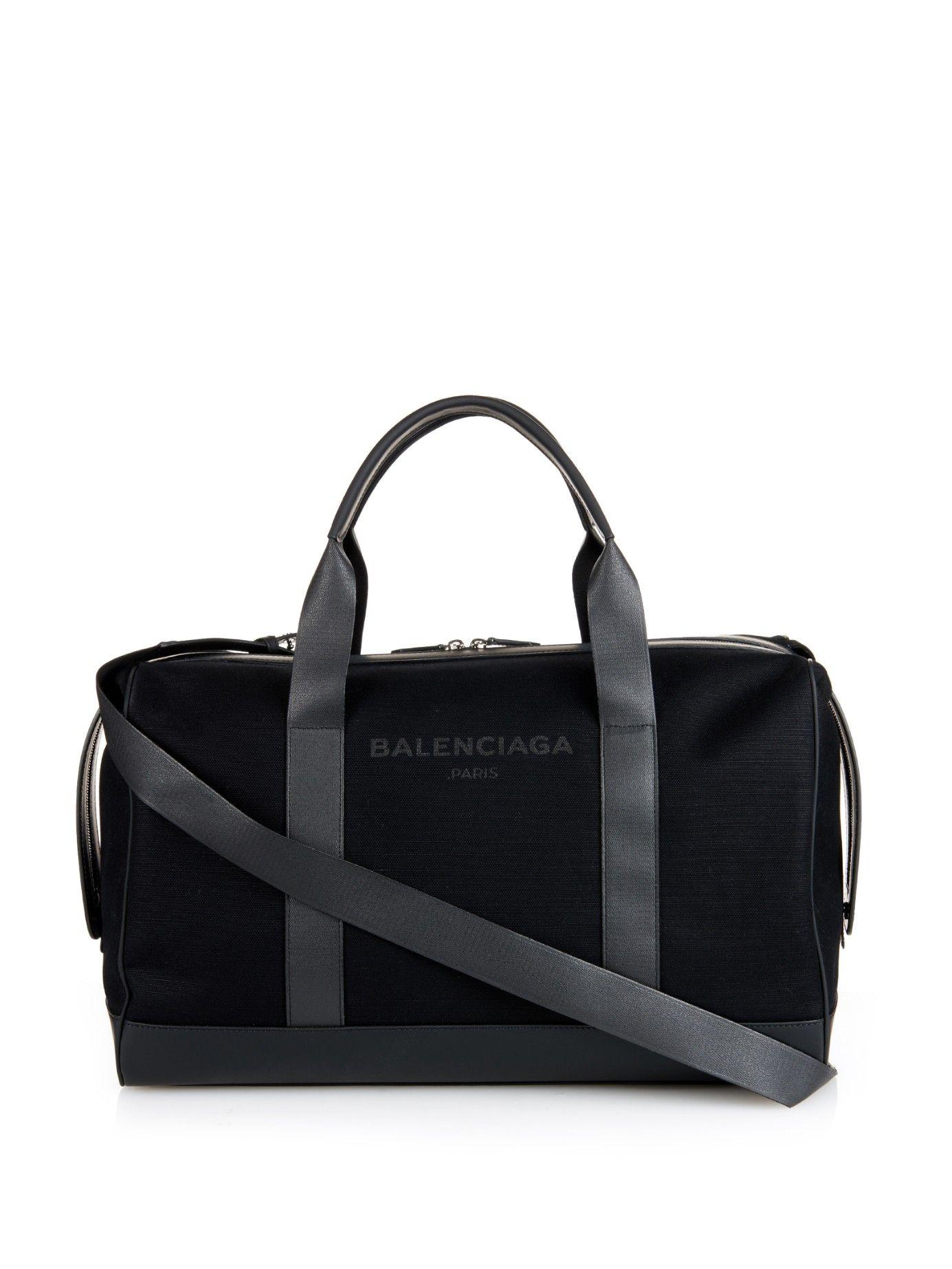 247312b7cbe9 Black canvas weekend bag