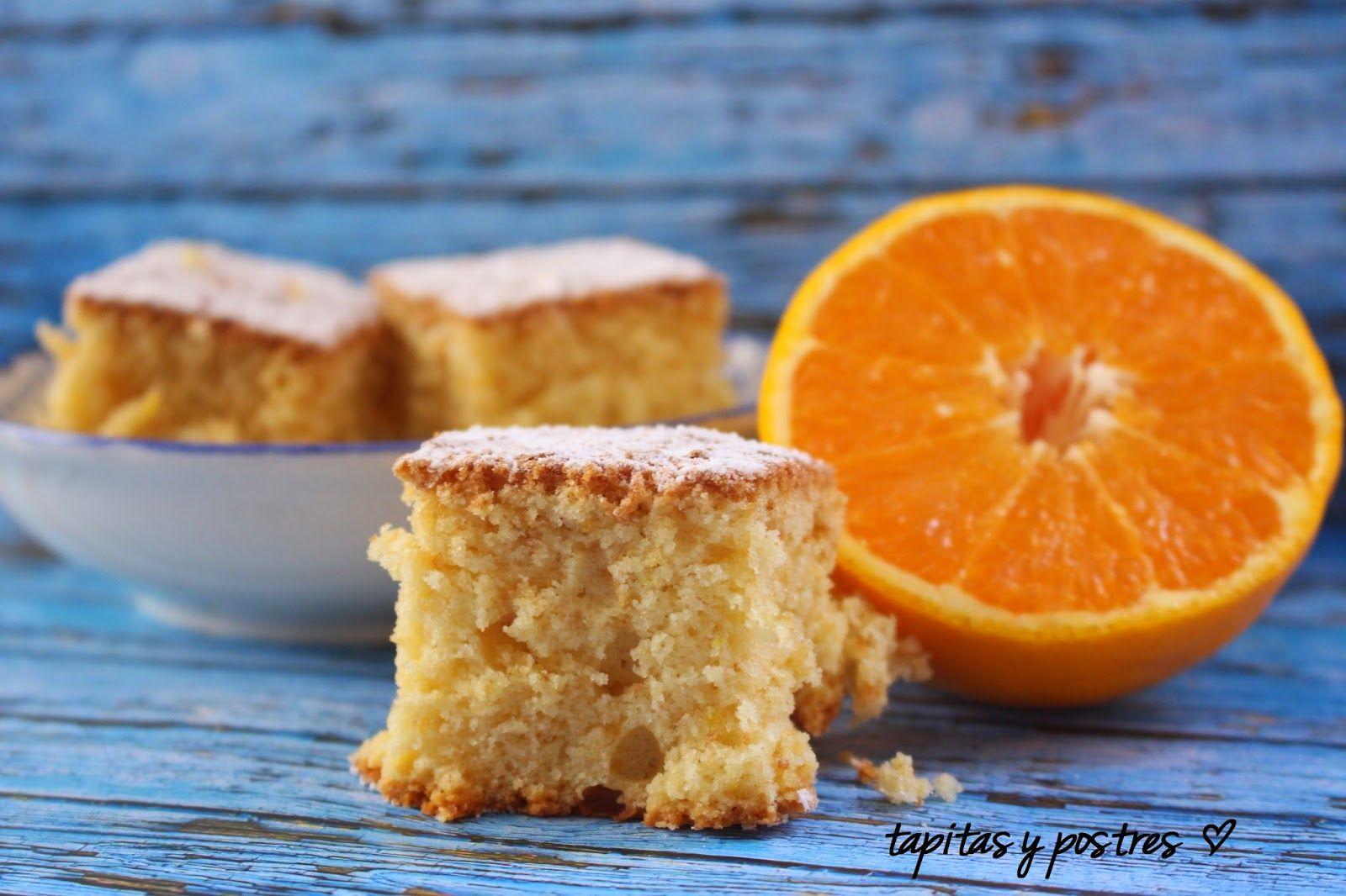 Tapitas y Postres: Bizcocho de claras y naranja.