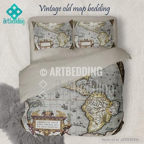 America old map bedding vintage old world map duvet cover set america old map bedding vintage old world map duvet cover set antique map queen gumiabroncs