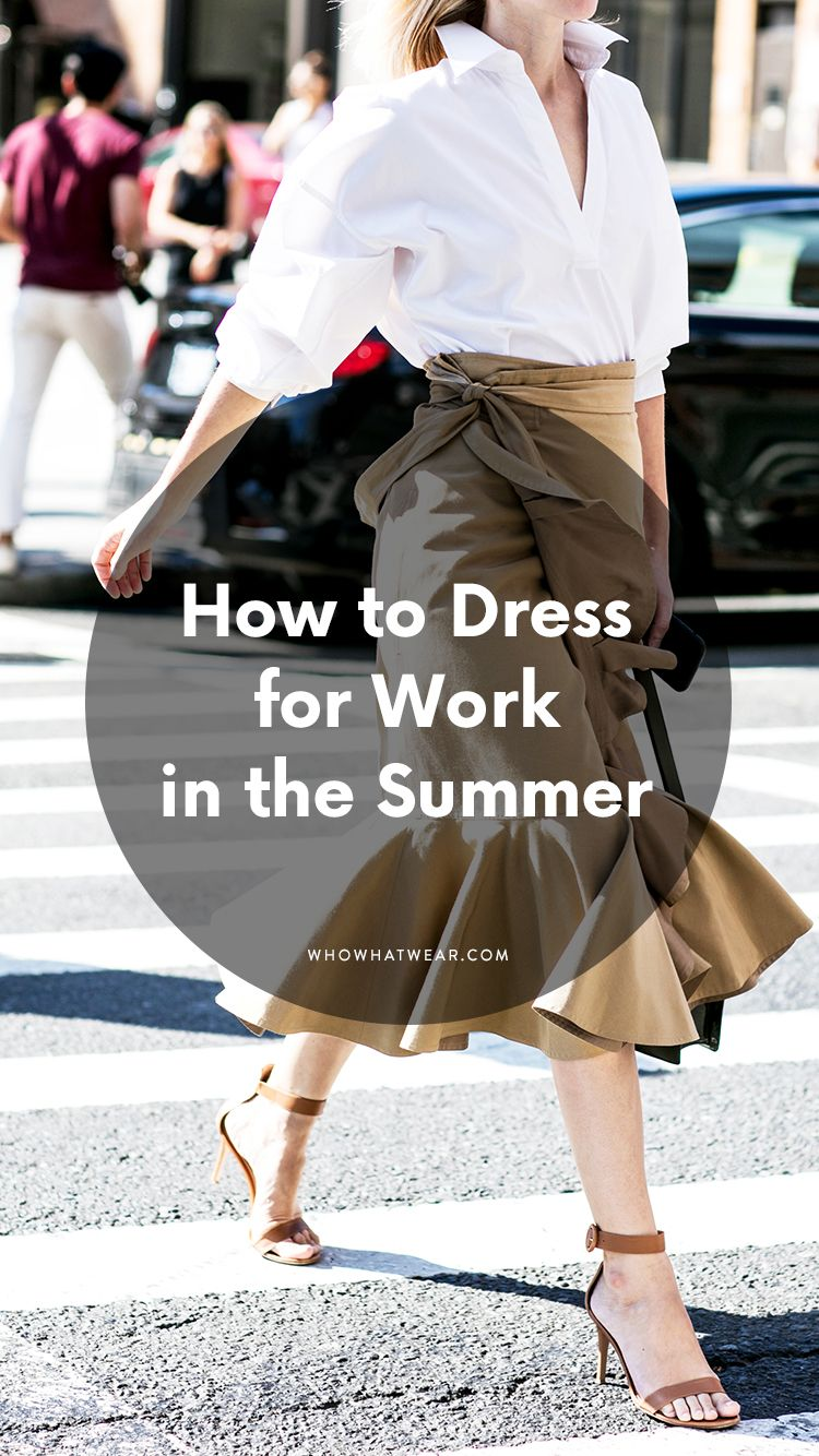 Summer Business Attire For Cool Working Girls Summer Office Outfits Hot Weather Outfits Work Outfits Women Summer [ 1334 x 750 Pixel ]