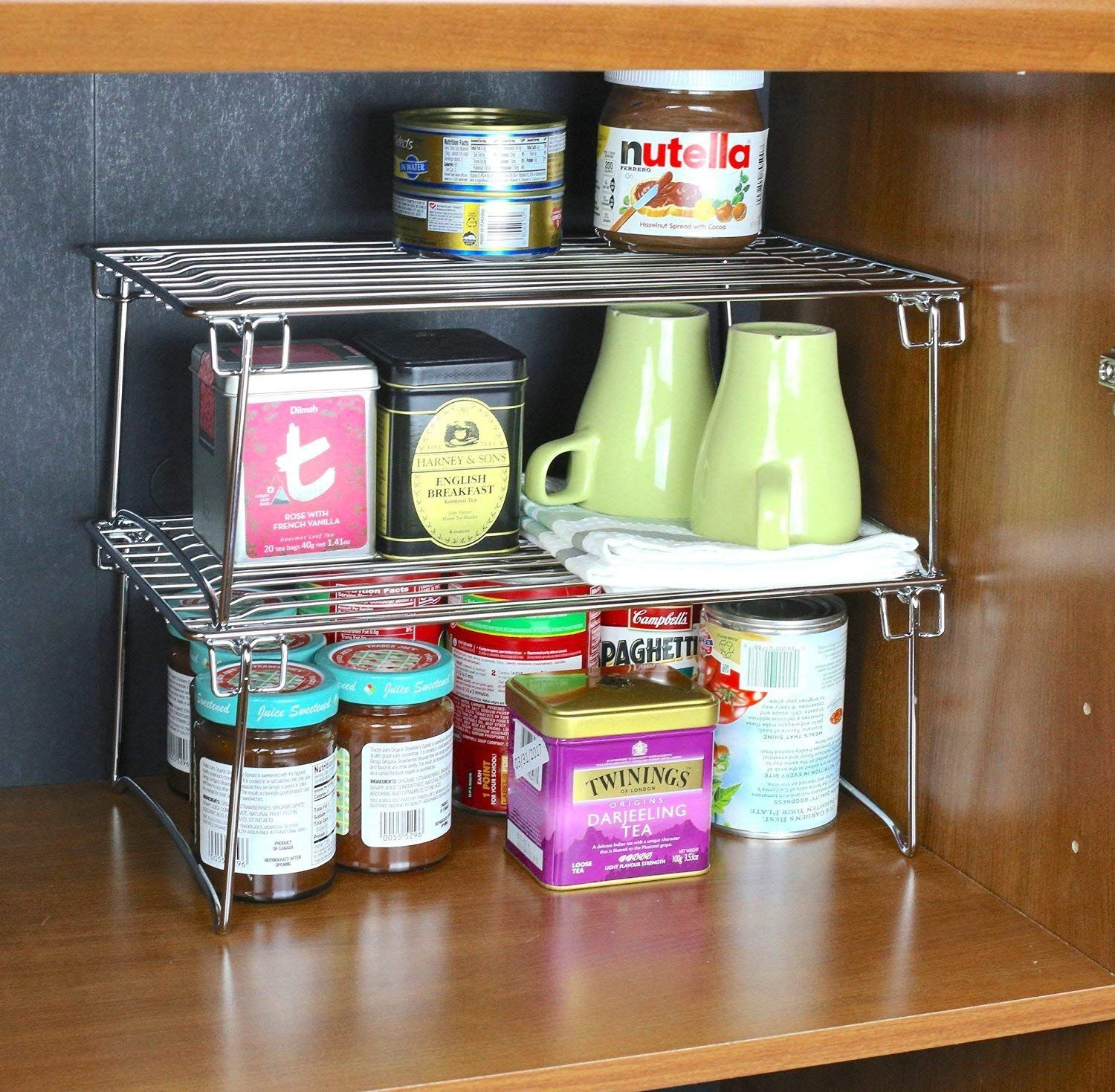 Shop Airtight Jars Stackable Shelves Drawer Dividers Turntables And Much More To Keep Your Kitch In 2020 Clever Kitchen Storage Shabby Chic Kitchen Kitchen Storage