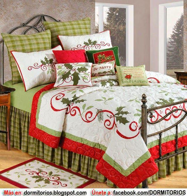 decoracion de camas en navidad - Buscar con Google decoracion de