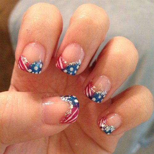 U S Flag Nail Art
