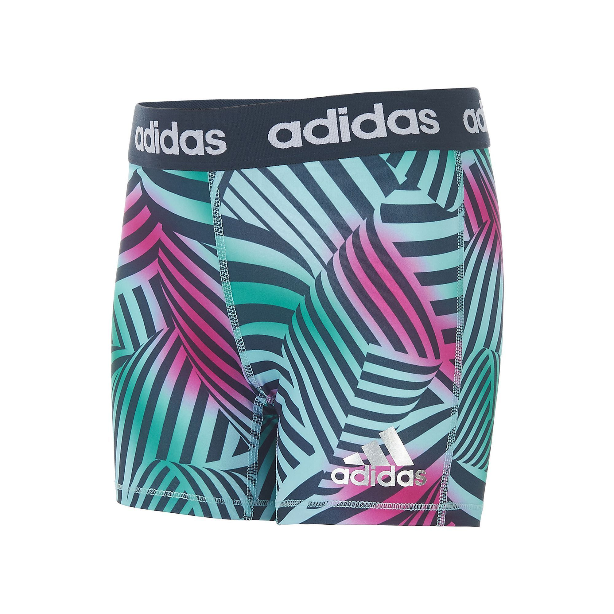 34208cc68a8 Girls 7-16 Adidas climalite Printed Tight Shorts, Girl's, Size: Medium,  Ovrfl Oth