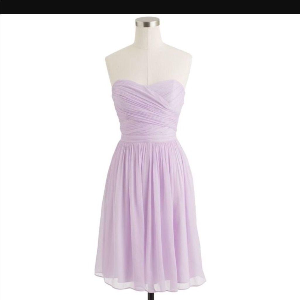 J.Crew Arabelle Dress In Silk Chiffon - Lilac
