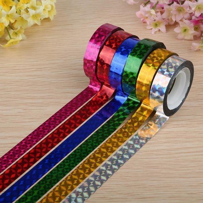 Cheap 6 Colores Laser Cinta Adhesiva Decorativa Colorido