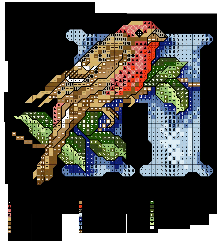 alfabeto degli uccellini: H