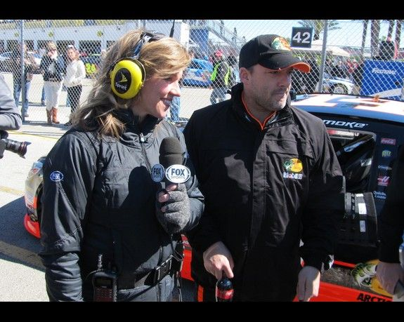 Tony Stewart Girlfriend Krista Kiss Photos From The Grid During