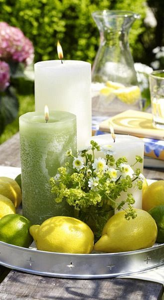 Photo of Monschi: the color combination is unbeatable in summer #decoration ideas event #decora …