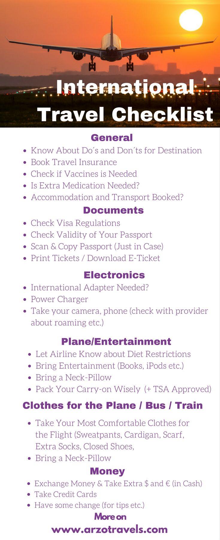 What to Do Before an International Flight International