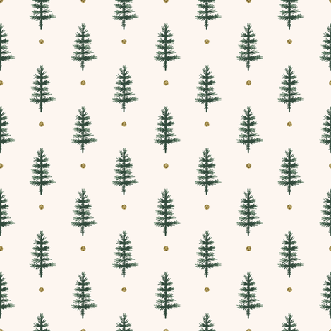 Colorful fabrics digitally printed by Spoonflower - Victorian Christmas Trees