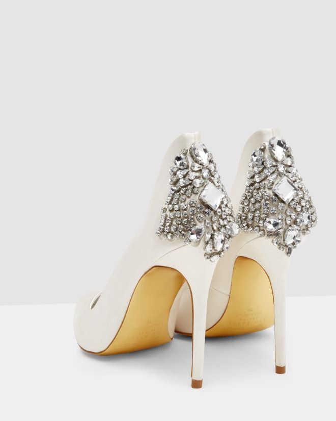 b27791acb292 Pointed embellished court shoes - Ivory