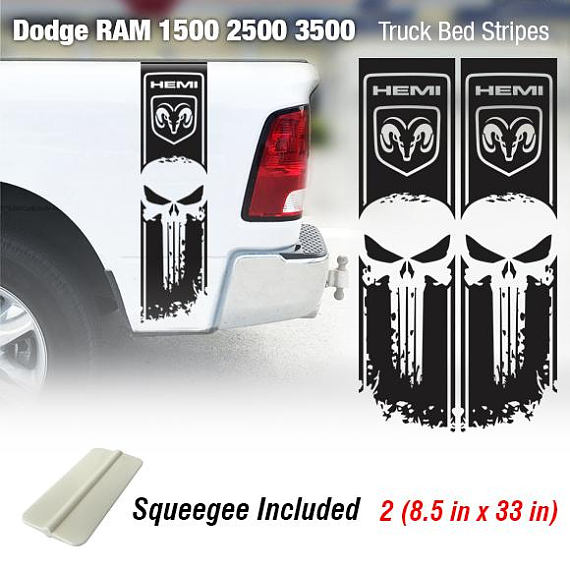 Dodge Ram 1500 2500 3500 Truck Bed Stripe Vinyl Decal Sticker Hemi 4x4 Racing
