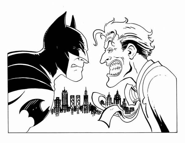 Batman vs Joker Coloring Page | free coloring pages | Pinterest ...