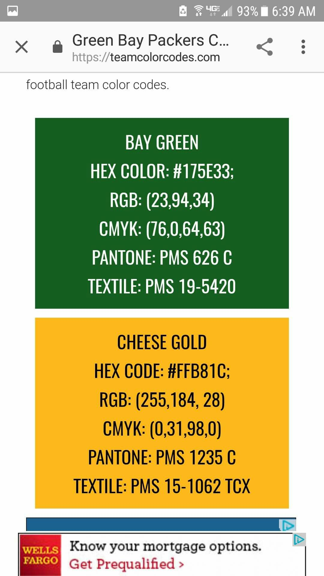 Pin By Teresa Zimmerman Browning On Green Bay Packers Original Paint Colors Green Bay Packers Green Bay Team Colors
