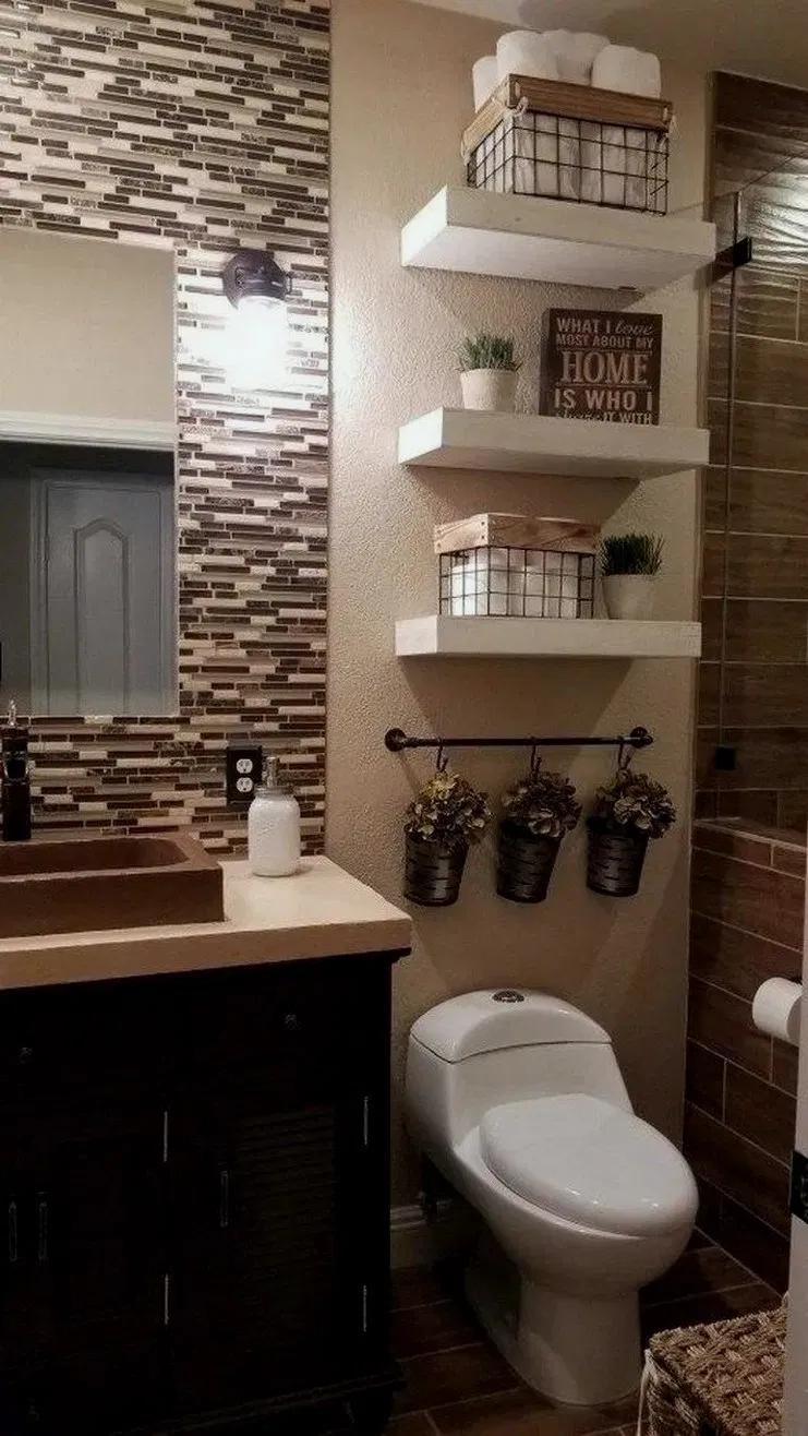 37 World S Best Bathroom Color Schemes For Your Home Bathroom Decor Apartment Guest Bathroom Decor Farmhouse Bathroom Decor