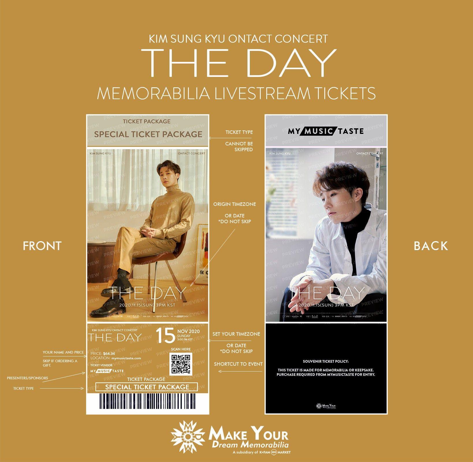 2020 Kim Sung Kyu Online Concert The Day Online Kpop Etsy Kim Sung Kyu Concert Price Tickets
