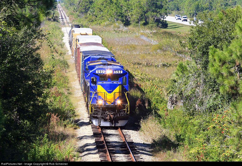 RailPictures.Net Photo: SGLR 592 Seminole Gulf GE B39-8E (Dash 8-39BE) at Punta Gorda, Florida by Rob Schreiner