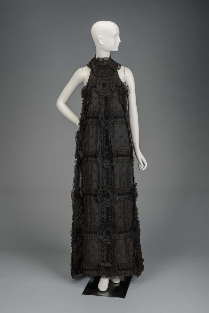 Fall 1968 America Womans Dress By Arnold Scaasi Silk Plain