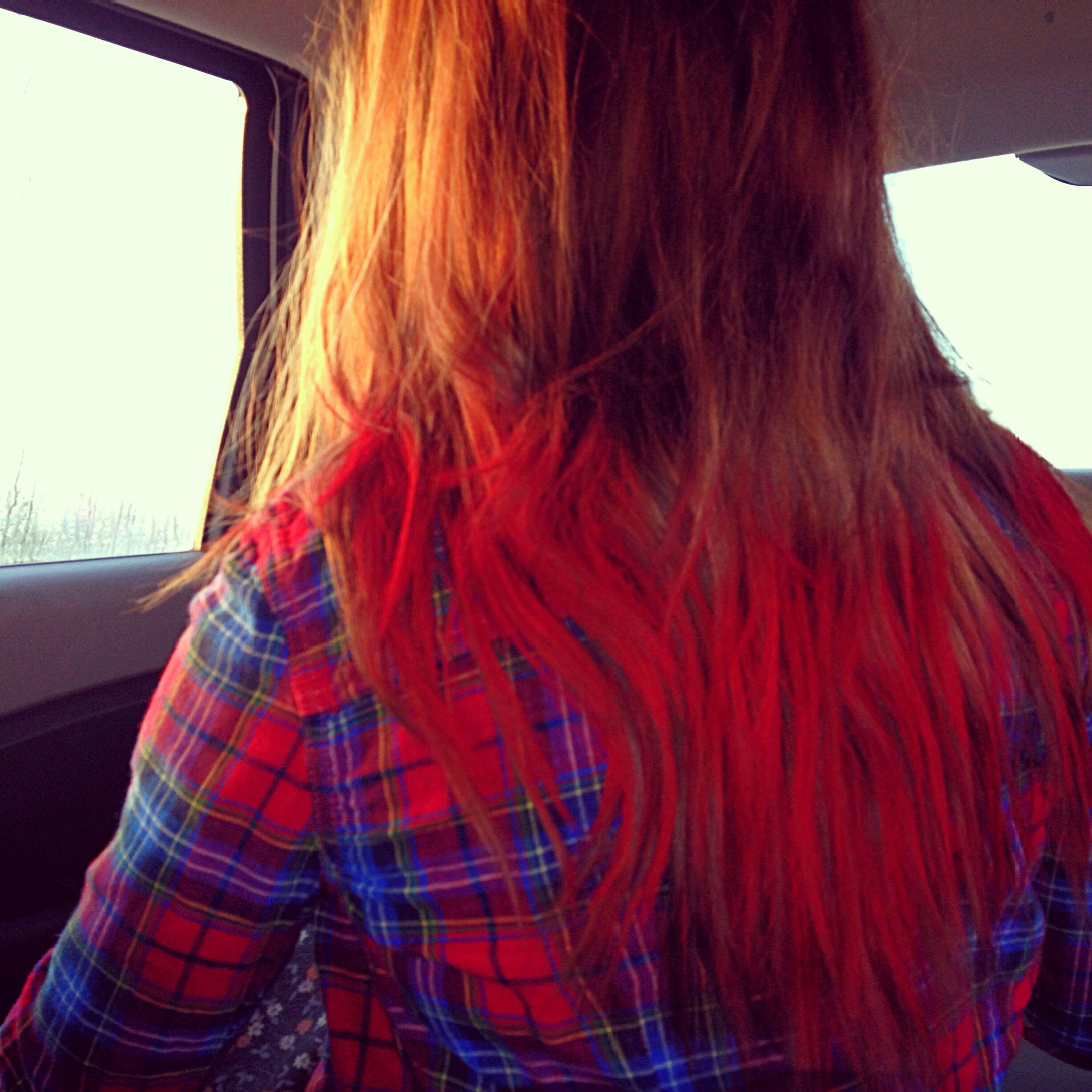 Pink red orange hair bottomxp cute and funky hair pinterest