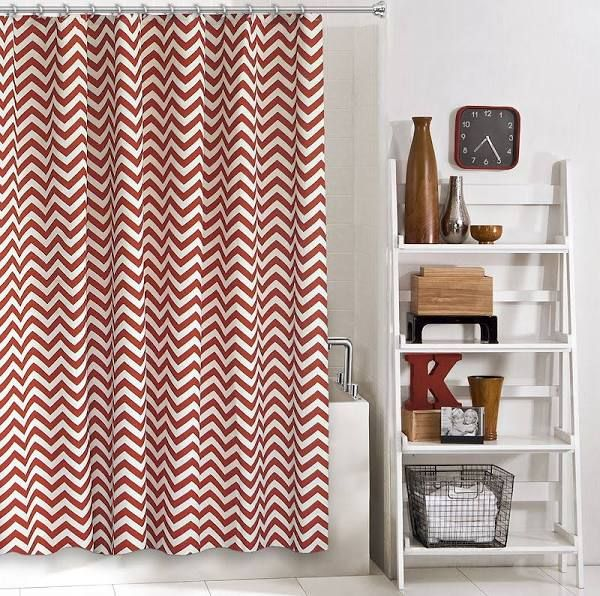 Red Print Shower Curtain