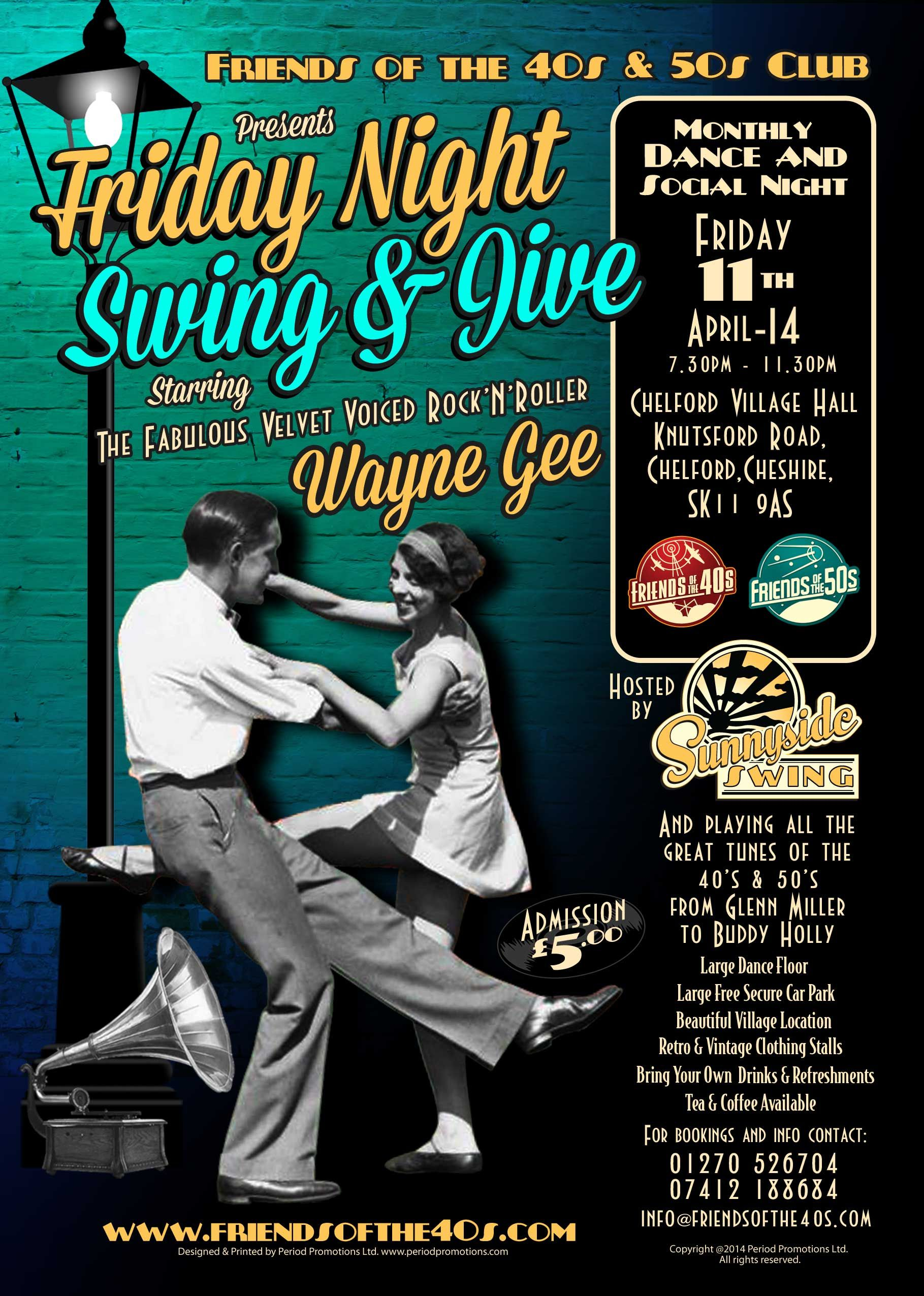 Friday Night Swing & Jive, Promotional Poster for a