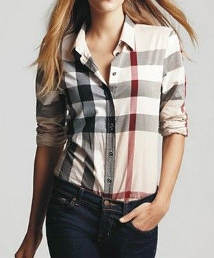 b9ff34be91f4 Burberry-Inspired Checkered Shirt   B-Style   Such   Pinterest ...
