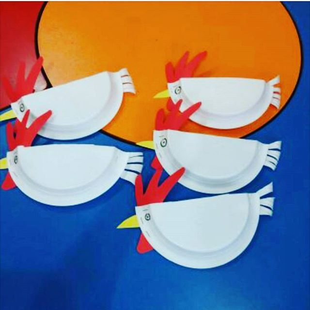 paper plate hen craft (2) | Crafts and Worksheets for PreschoolToddler and  sc 1 st  Pinterest & paper plate hen craft (2) | Crafts and Worksheets for Preschool ...