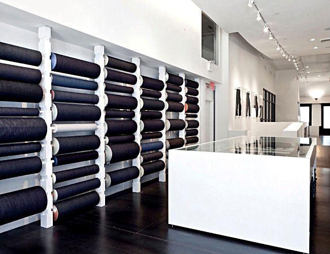 Bespoke denim jeans store. Expensive but genius!