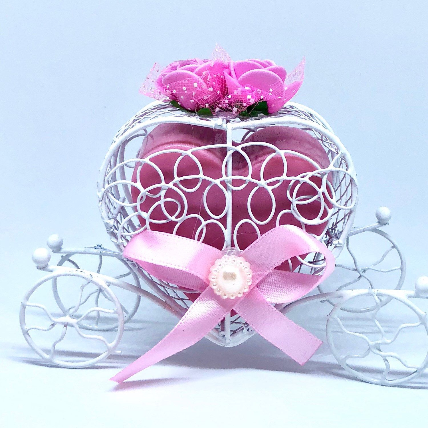 Romantic Carriage Heart Soap Wedding and Bridal Shower Favors fit ...