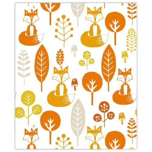 kinderkamer behang vosjes | roodborstje | kinderkamer | pinterest, Deco ideeën