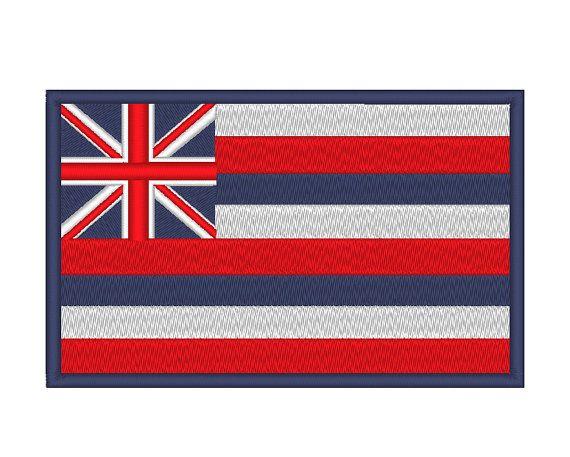 Hawaii State Flag Embroidery Machine Design Flag Embroidery Machine Embroidery Machine Embroidery Designs