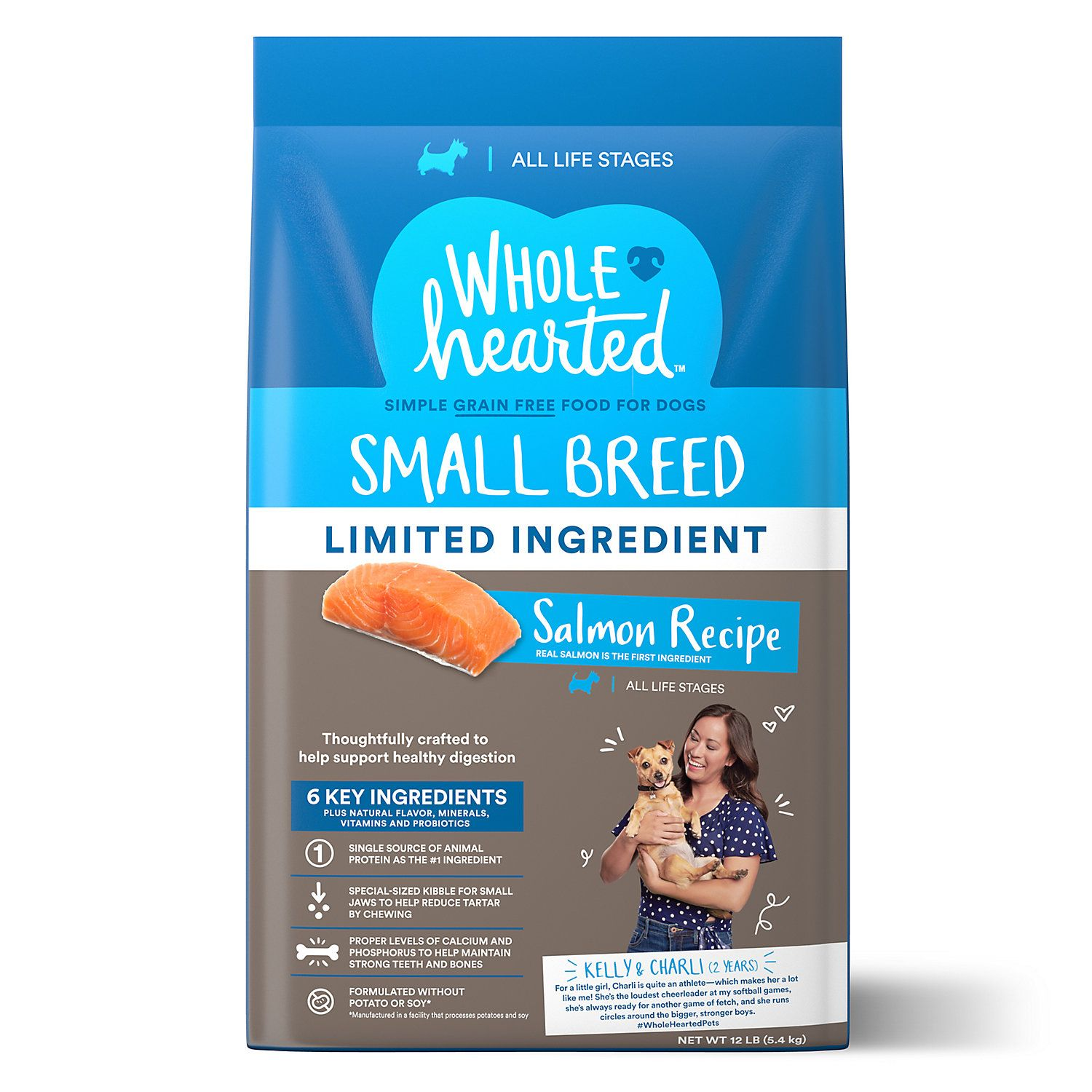 Wholehearted Grain Free Limited Ingredient Small Breed Salmon