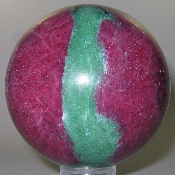 Ruby-Zoisite (polished sphere) / Tanzania