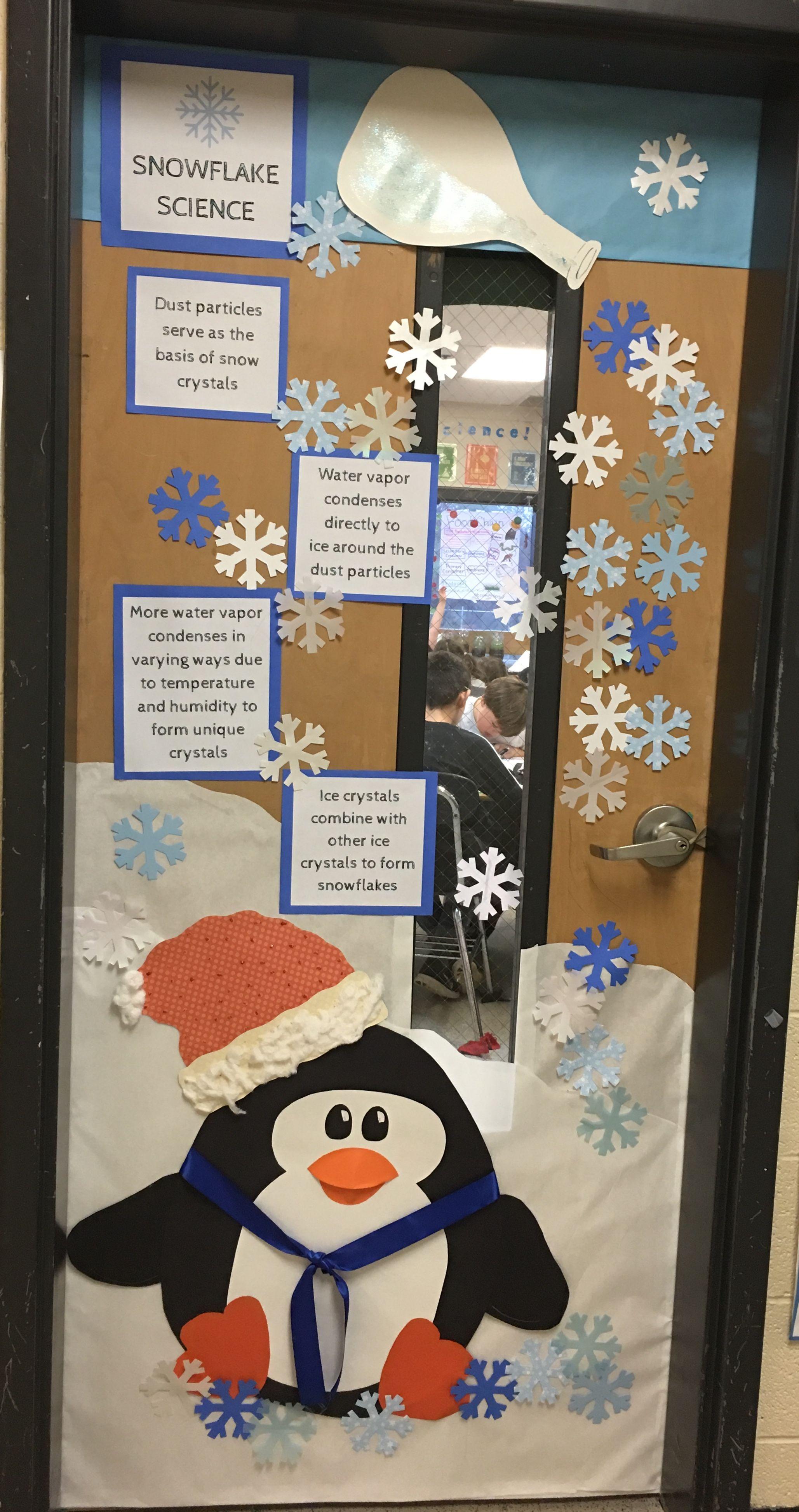 Winter Theme Snowflake Classroom Door Decoration