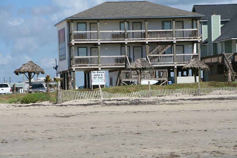Surfside Beach Texas Hotels And Vacation Breeze Hotel Rv Park 2218 Blue Water Highway Tx 77541
