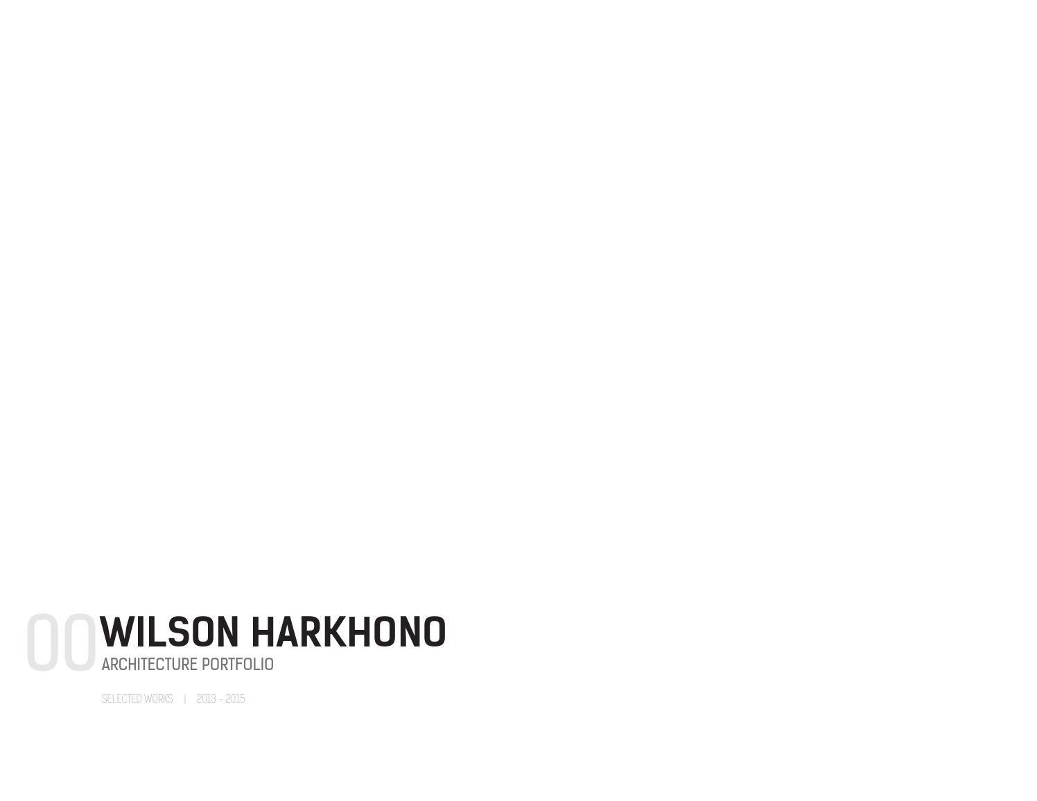 Architecture Portfolio - Graduate School Application