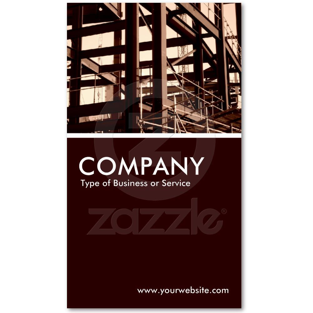 Steel Frame Construction Business Card Zazzle Com Construction Business Cards Steel Frame Construction Luxe Business Cards