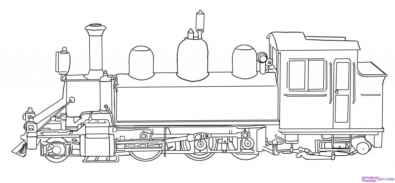 http://colorings.co/steam-train-coloring-pages/ | Colorings | Pinterest
