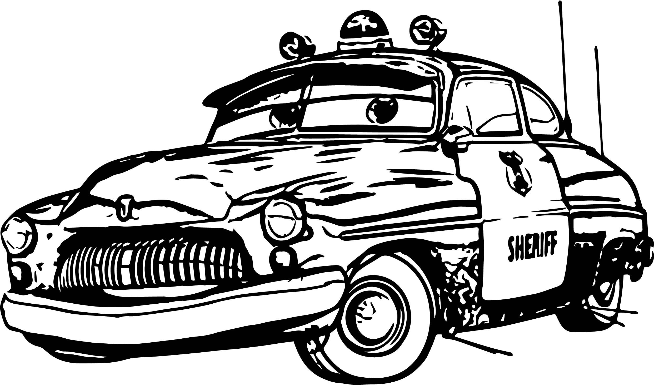 Cool Any Disney Cars Sheriff Coloring Page Disney Cars Cars Coloring Pages Disney Cars Movie