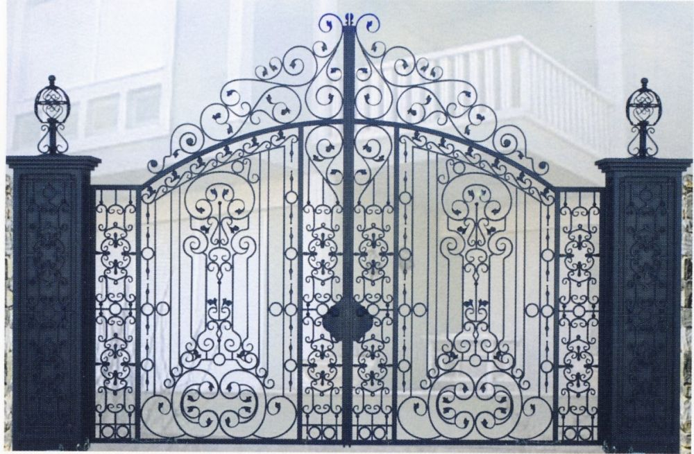Portail fer forg stuff to buy pinterest wrought iron garden gates iron garden gates et for Portail grille fer forge