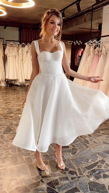 Amazing A Line Silk Midi Reception Wedding Dress Coco By Ange Etsy Midi Wedding Dress Civil Wedding Dresses Casual Wedding Dress [ 1408 x 794 Pixel ]